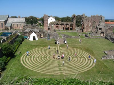 Labyrinth design and planning - Lindisfarne Priory - Thomas Frere
